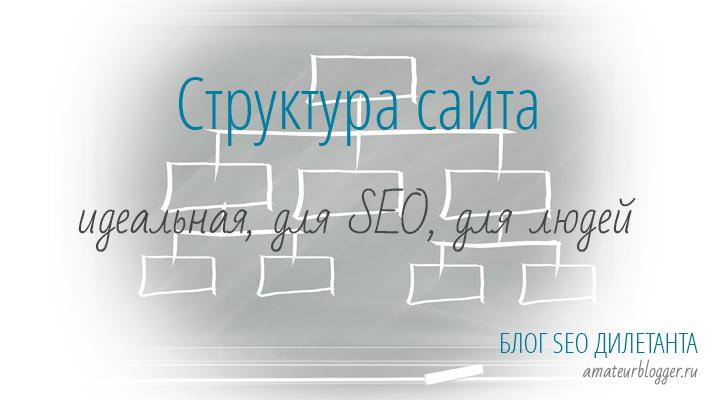 Структура сайта - идеальная, для SEO, для людей