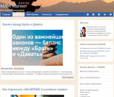 Создание блога MLM Magnit